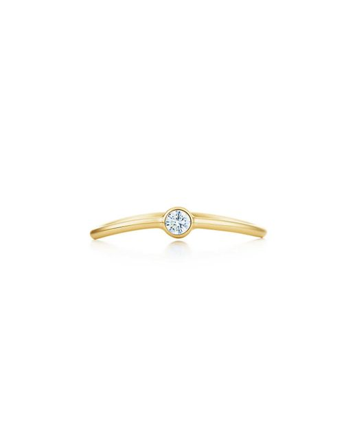Tiffany & Co - Metallic Wave Single-row Diamond Ring - Lyst