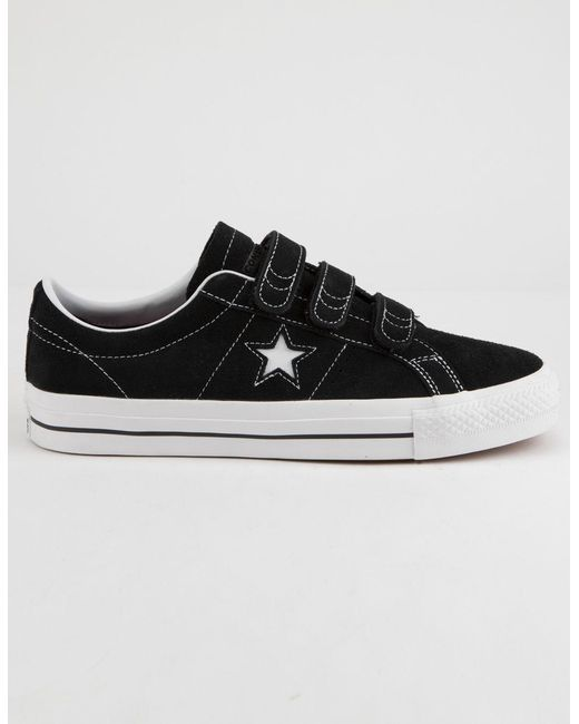 2cd4ac64b6fa Lyst - Converse One Star Pro 3v Ox Black   White Shoes in Black for Men