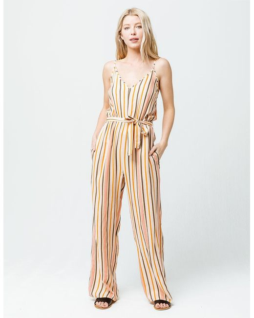 9ff611f4b7cb Roxy - Natural Cha Cha For Now Womens Jumpsuit - Lyst ...