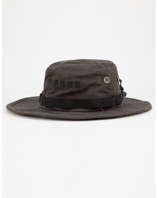 new concept 996d0 c67be ... italy hurley black cryptik mana mens bucket hat for men lyst f2777 ac125