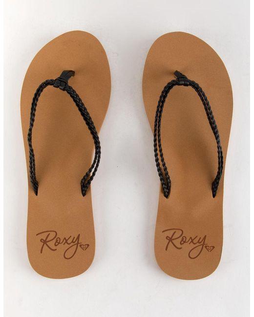 e93f6cd2f153 ... Roxy - Costas Black Womens Sandals - Lyst ...