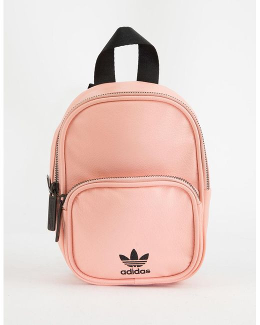 Lyst - adidas Originals Faux Leather Pink Mini Backpack in Pink 5a3849c1a2961