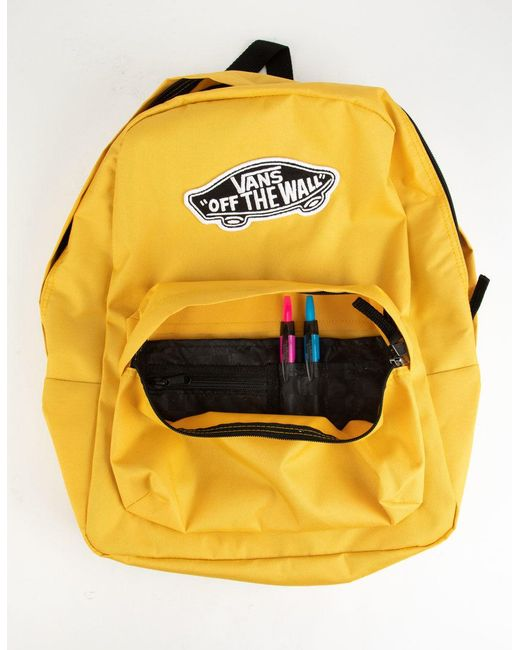 1970051b66f ... Vans - Realm Classic Yolk Yellow Backpack - Lyst ...
