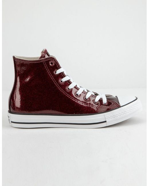 fd8e2cb1dab Converse - Multicolor Chuck Taylor All Star Wonderworld Dark Burgundy High  Top Womens Shoes - Lyst ...
