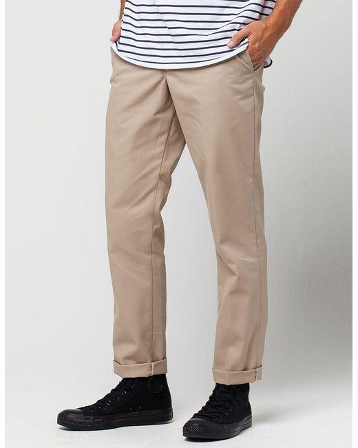 Lyst Dickies 850 Slim Taper Flex Mens Pants In Natural