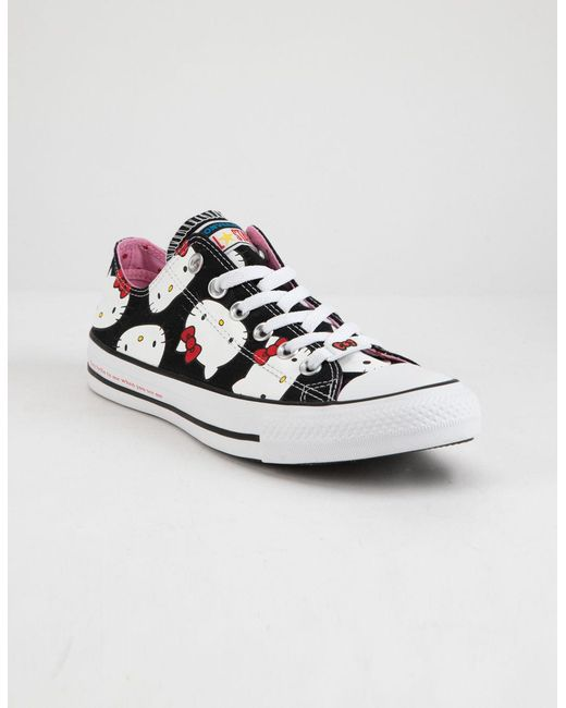 be031015a92c ... Converse - X Hello Kitty Chuck Taylor All Star Black   Prism Pink Low  Top Womens ...