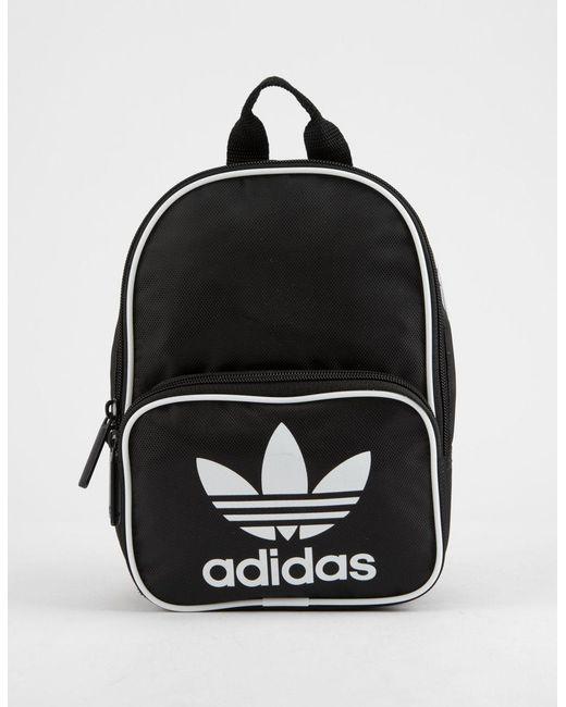 0707eb73191 Lyst - adidas Originals Santiago Black Mini Backpack in Black