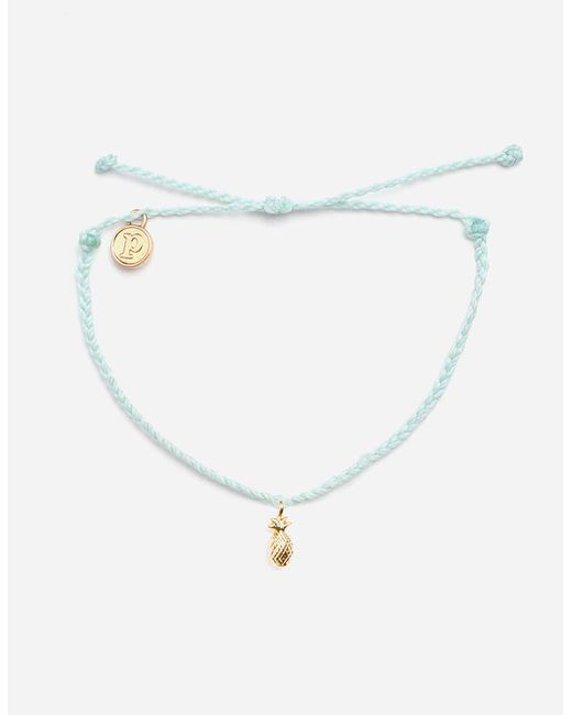 Pura Vida - Metallic Seafoam & Gold Pineapple Bracelet - Lyst
