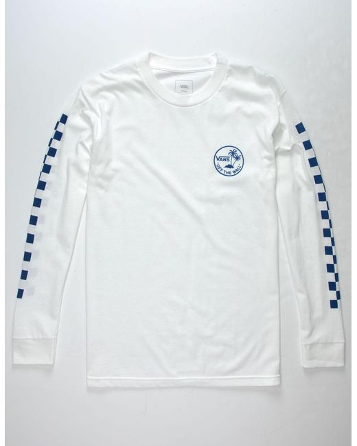 Vans - White Mini Dual Palm Mens T-shirt for Men - Lyst
