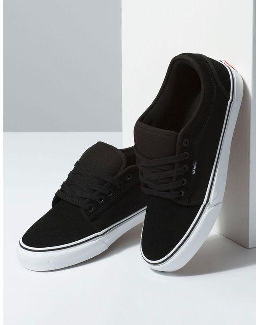 641d93fa269cc6 ... Lyst Vans - Suede Chukka Low Black   True White Mens Shoes for Men ...