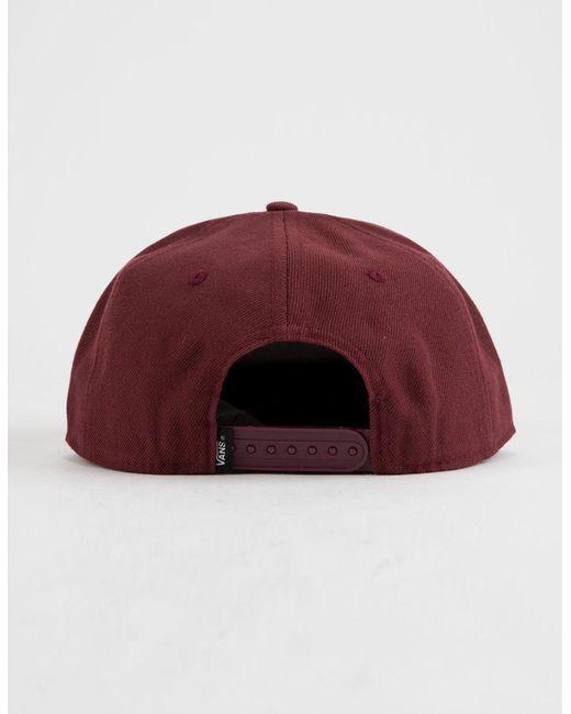 e68c66ec ... Vans - Red Best In Class Mens Snapback Hat for Men - Lyst