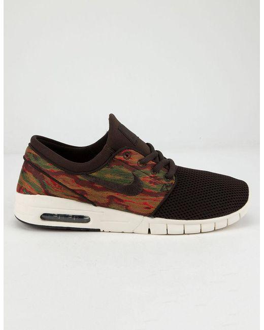 dc82276ab7 Nike Stefan Janoski Max Velvet Brown Shoes in Brown for Men - Lyst