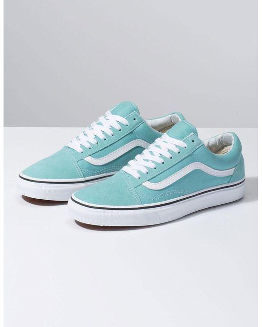 4c20f9f59de ... Vans - Multicolor Old Skool Aqua Haze & True White Shoes ...