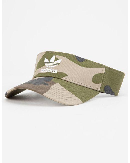 f998ae9d9122c Lyst - adidas Originals Twill Camo Visor in Green for Men - Save 5%