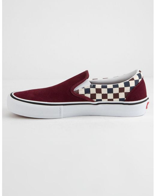... Vans - Red Checkerboard Slip-on Pro Port Royal Royal Shoes - Lyst ... e54c356ae