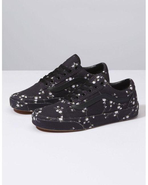 b17027bd231 ... Vans - Black Old Skool Midnight Floral Womens Shoes - Lyst ...