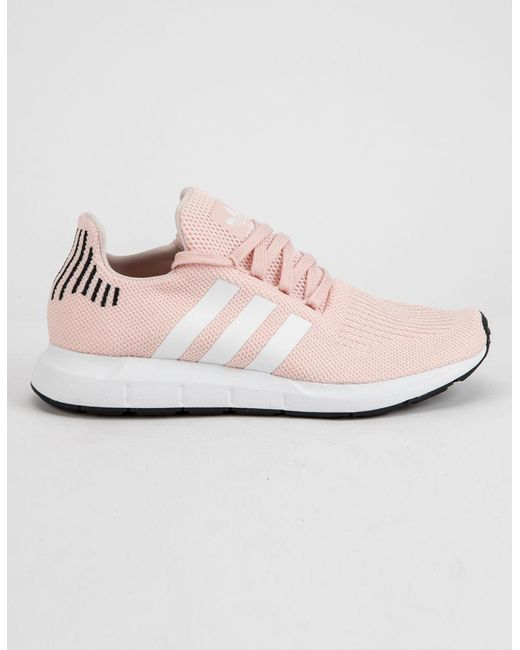 82cc75219b10 Lyst - adidas Swift Run Pink Womens Shoes in Pink