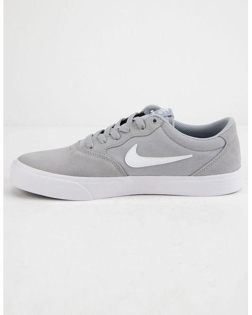 new york f8bc7 e60e0 ... Nike - Chron Slr Wolf Gray   White Shoes for Men ...