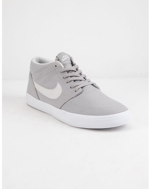 info for 5d518 5a19d ... Nike - Portmore Ii Solarsoft Mid Canvas Atmosphere Gray   White Shoes  for Men ...