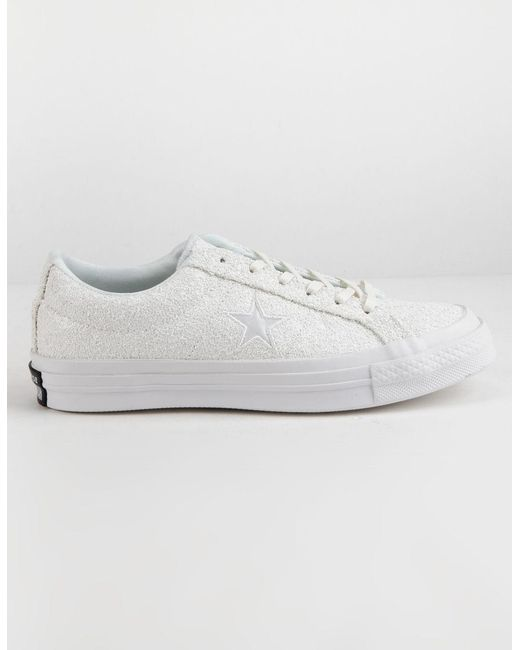 sneakers for cheap 9e34d dbbb1 Converse - One Star Ox Glitter White Womens Shoes - Lyst ...