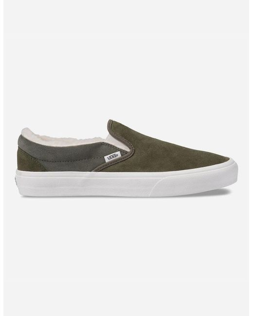 282ab353d29 Lyst - Vans Classic Slip On Lx in Green for Men - Save 61%