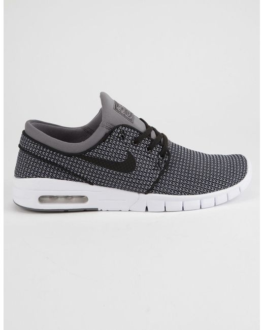 reputable site 3fe96 e2cb2 Nike - Gray Stefan Janoski Max Gunsmoke White   Black Shoes for Men ...
