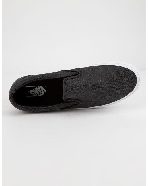 ... Vans - Black Herringbone Classic Slip-on Mens Shoes for Men - Lyst ... 0d3aceef9