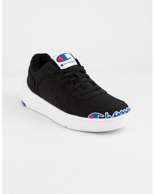 8199aa13307 Lyst - Champion Super C Court Low Black   White Mens Shoes in Black ...