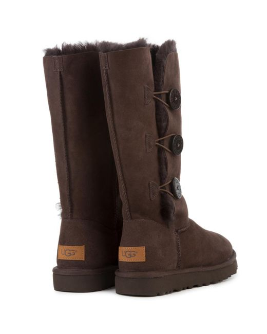 aa7f89a4942 sale ugg bailey button triplet chocolate boots york e0323 8674d