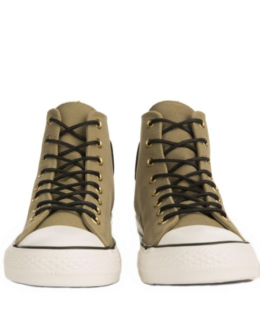 6b67772b29e ... Converse - Natural Chuck Taylor All Star Crafted Khaki Suede High Tops  for Men - Lyst ...