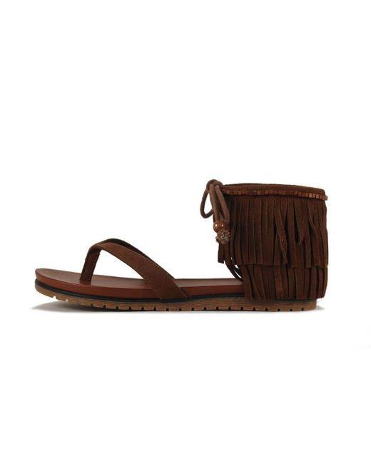 MIA - Brown Native Cinammon Nova Suede Sandal - Lyst