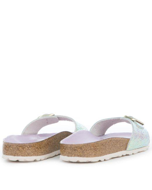 4020436374c ... Birkenstock - Metallic Madrid Ombre Pearl Silver Orchid Sandals - Lyst  ...