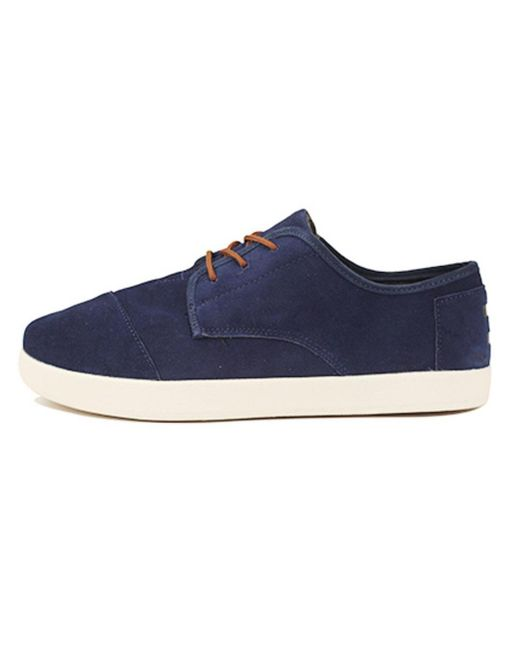 TOMS - Blue Paseo Navy Suede for Men - Lyst