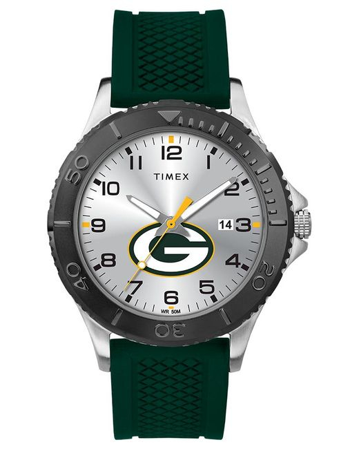 Timex - Metallic Watch Gamer Green Bay Packers Silver-tone/green/silver-tone for Men - Lyst
