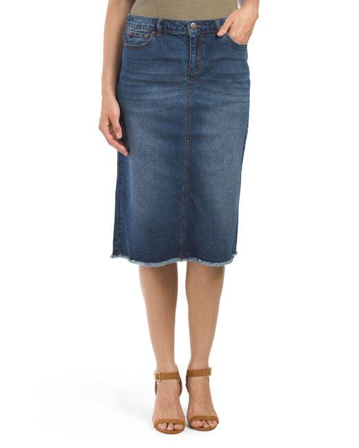Tj Maxx Easy Denim Skirt In Blue Denim Lyst