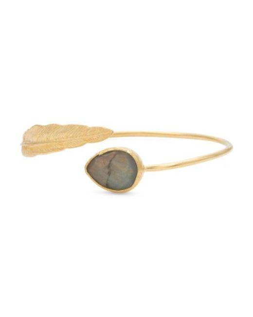 Tj Maxx   Metallic Made In Turkey Labradorite Feather Bypass Cuff Bracelet   Lyst