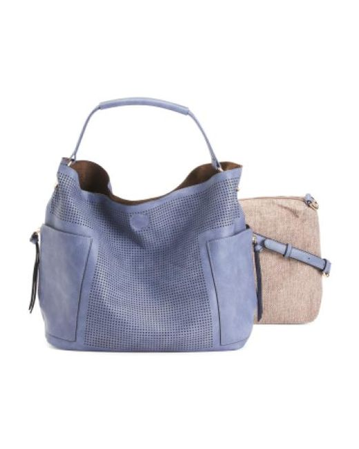 Tj Maxx | Blue Perforated Tote With Removable Pouch | Lyst