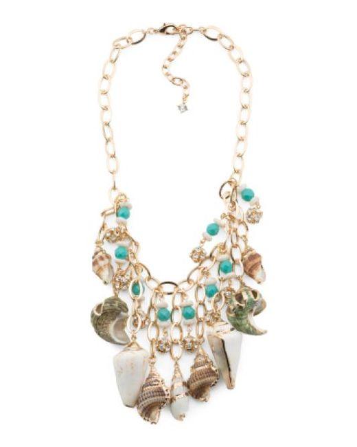 Tj Maxx | Metallic Genuine Shell Statement Necklace | Lyst