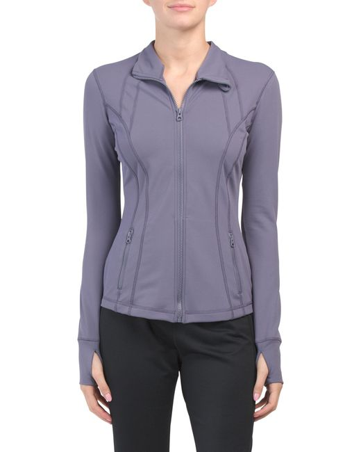 Tj Maxx Nude Tech Jacket With Princess Seaming in Purple