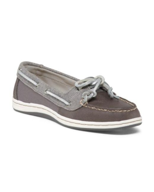 Tj Maxx - Gray Comfort Leather Boat Shoes for Men - Lyst