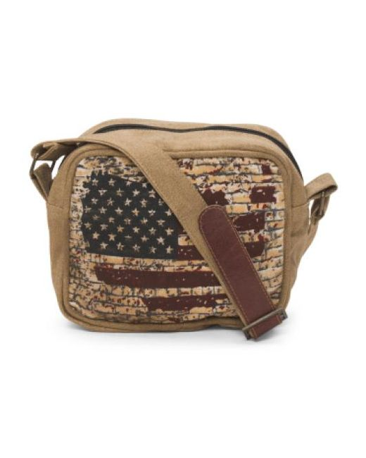 Tj Maxx | Brown Up Cycled Flag Crossbody | Lyst
