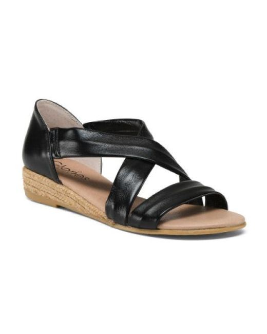 dd468c09cde Lyst - Tj Maxx Made In Spain Leather Espadrille Sandals in Black