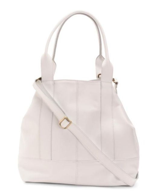 Tj Maxx - White Made In Italy Calf Leather Tote - Lyst