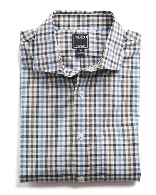 Todd Snyder - Gray Spread Collar Tattersall Shirt for Men - Lyst