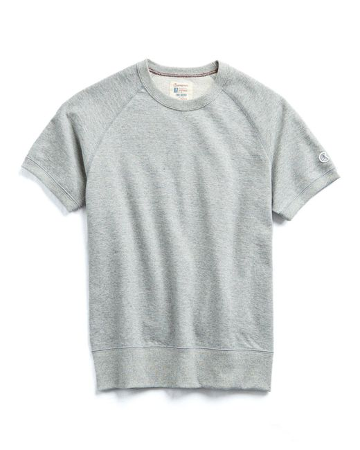 Todd Snyder - Gray Short Sleeve Sweatshirt In Light Grey Mix for Men - Lyst
