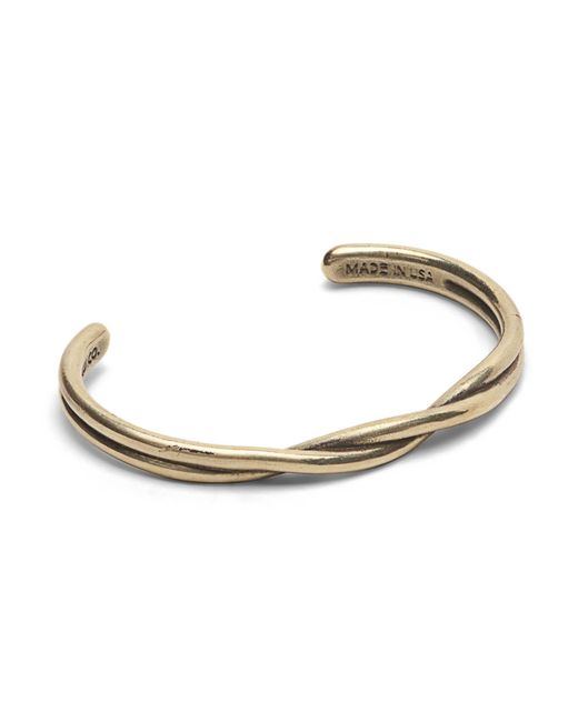 Maxx + Unicorn | Metallic Twisted Cuff In Brass for Men | Lyst