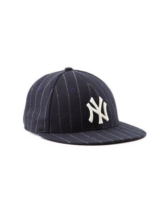 NEW ERA HATS - Blue Ny Yankees Navy Pinstripe Hat for Men - Lyst ... 7ff7d9799e8d