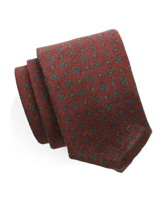 Todd Snyder | Foulard Silk Wool Tie In Red for Men | Lyst