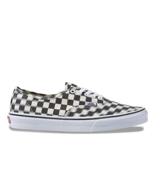 86f6dbb3184f Lyst - Vans Blur Check Authentic in White for Men - Save 43%