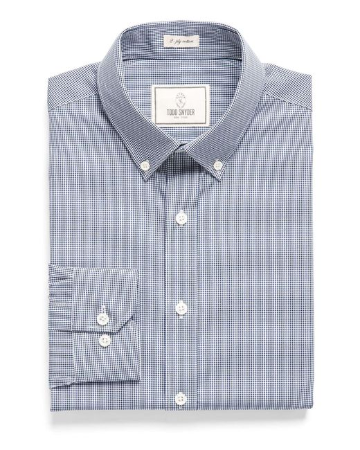 Todd Snyder - Button-down Collar Dress Shirt In Blue Gingham for Men - Lyst